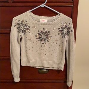 Justice snowflake sequin sweater